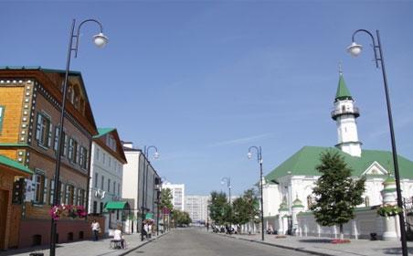 Открытие третей пешеходной улицы в Казани