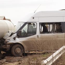 Авария по дороге с кладбища