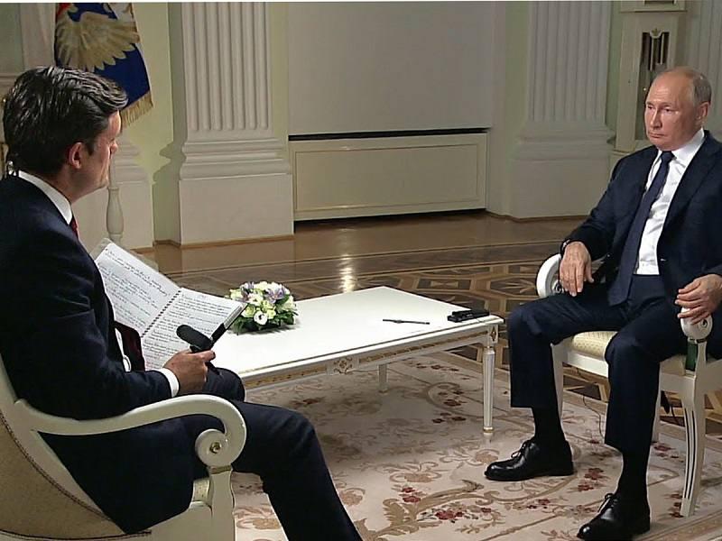 Владимир Путин впервые за 3 года дал интервью американскому телеканалу